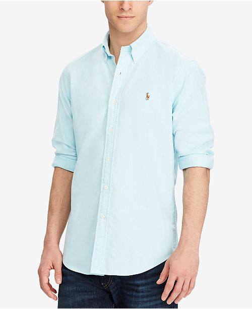 a8294657 ... Shirt; Polo Ralph Lauren Men's Classic Fit Long Sleeve Solid Oxford ...