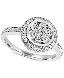 EFFY® Diamond Halo Cluster Ring (1 ct. t.w.) in 14k White Gold