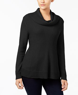 Style & Co Cowl-Neck Sweater, Created for Macy's
