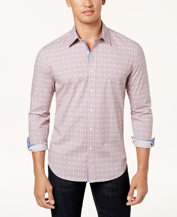 ConStruct Con.Struct Men's Slim-Fit Mosaic Shirt, Created for Macy's