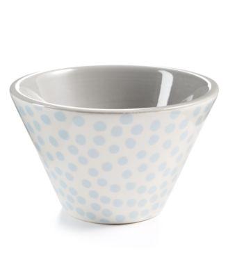 Graphite Small Dot Mod Appetizer  Bowl