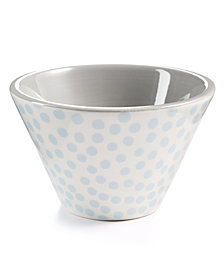 Coton Colors Graphite Small Dot Mod Appetizer  Bowl