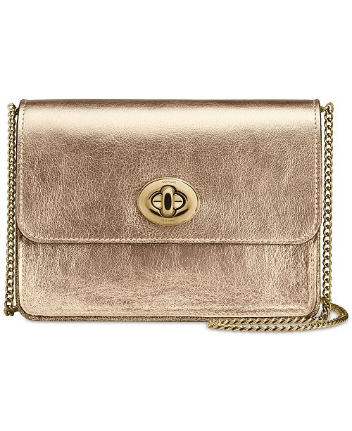 422b6f525bc98 COACH Bowery Crossbody in Metallic Smooth Leather   Reviews ...