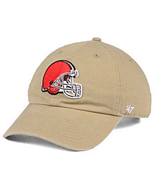 '47 Brand Cleveland Browns Khaki CLEAN UP Cap