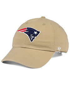 '47 Brand New England Patriots Khaki CLEAN UP Cap