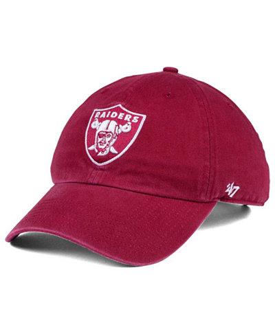 '47 Brand Oakland Raiders Cardinal CLEAN UP Cap