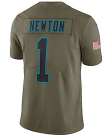 Nike Men's Cam Newton Carolina Panthers Salute To Service Jersey