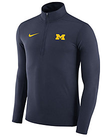Nike Men's Michigan Wolverines Element Quarter-Zip Pullover