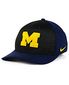 Nike Michigan Wolverines Just Do It Swooshflex Cap