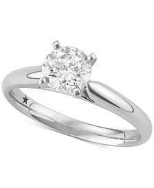 Macy's Star Signature Diamond™ Solitaire Engagement Ring (1 ct. t.w.) in 14k Gold or White Gold