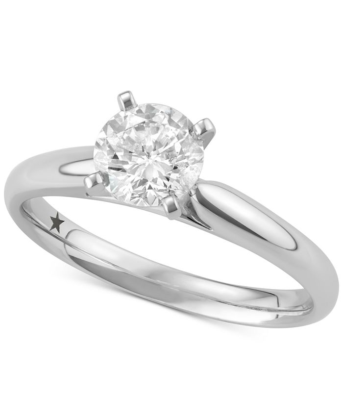 Macy's Star Signature Diamond - Certified ™ Solitaire Engagement Ring (1 ct. t.w.) in 14k Gold or White Gold