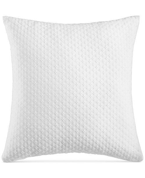 """Charter Club Diamond Dot Cotton 300-Thread Count 18"""" x 18"""" Decorative Pillow, Created for Macy's"""