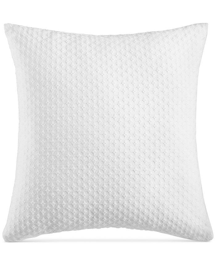 "Charter Club - Damask Designs Diamond Dot Cotton 300-Thread Count 18"" x 18"" Decorative Pillow"