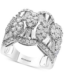 Classique by EFFY® Diamond Scalloped Statement Ring (2-1/4 ct. t.w.) in 14k White Gold