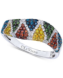 Le Vian Exotics® Diamond Scale Ring (3/4 ct. t.w.) in 14k White Gold