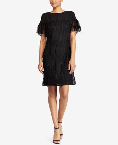 American Living Flutter-Sleeve Lace Dress