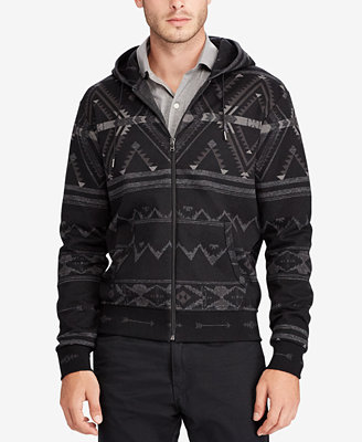 Men's Printed Full Zip Hoodie by Polo Ralph Lauren