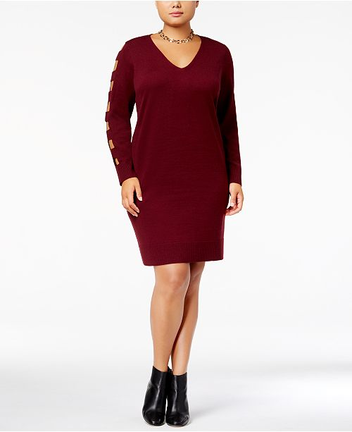 Love Scarlett Plus Size Cutout Sweater Dress & Reviews - Dresses ...