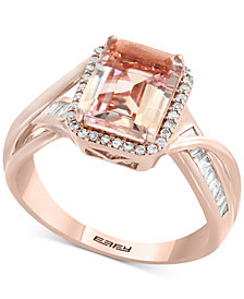 Blush by EFFY® Morganite (1-9/10 ct. t.w.) & Diamond (1/4 ct. t.w.) Ring in 14k Rose Gold