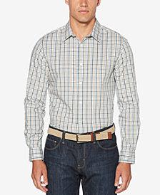 Perry Ellis Men's Non-Iron Multi-Color Mini Plaid Shirt