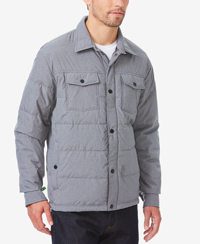 32 Degrees Men's Quilted Down Shirt Jacket