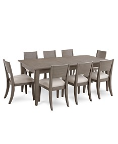 Amazing Table For 8 Or More Kitchen Dining Room Sets Macys Home Remodeling Inspirations Cosmcuboardxyz