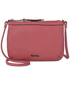 Calvin Klein Carrie Pebble Leather Crossbody