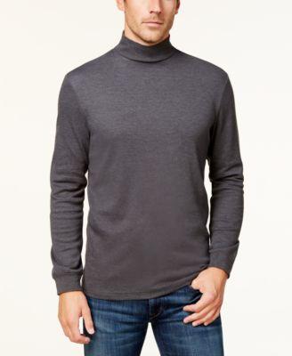 Men's Solid Mockneck Turtleneck Shirt, Created for Macy's