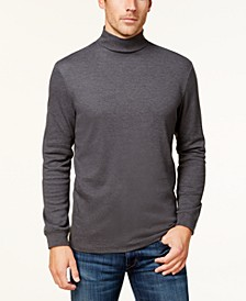 Men's Solid Mock Neck Turtleneck Shirt, Created for Macy's