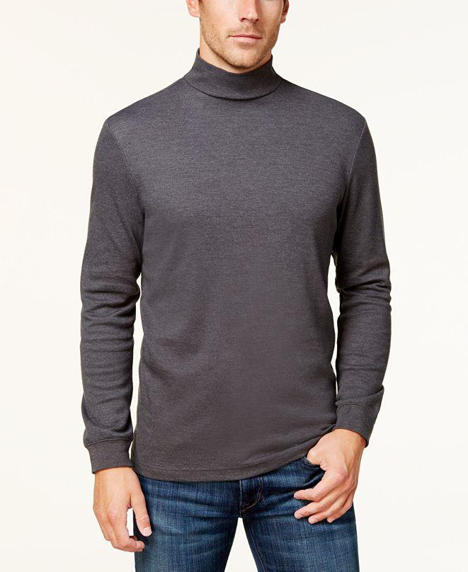 Club Room Men's Solid Mockneck Turtleneck Shirt, Created for Macy's