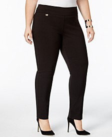 Plus Size Curvy Tummy-Control Pull-On Skinny Pants, Created for Macy's