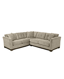 Elliot Fabric Microfiber 2-Piece Sectional Sofa - Custom Colors, Created for Macy's
