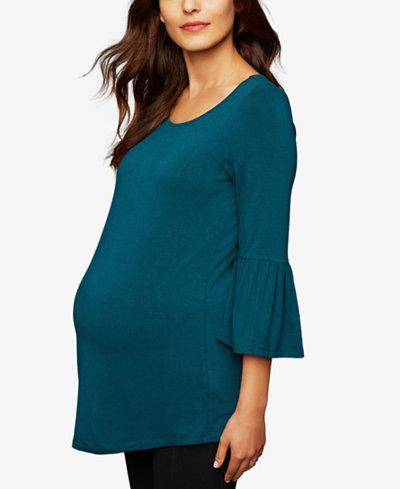 Daniel Rainn Maternity Bell-Sleeve Tunic