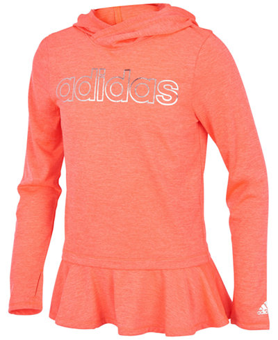 adidas Climalite® On The Go Melange Hoodie, Little Girls