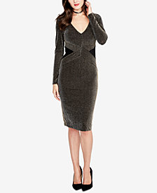 RACHEL Rachel Roy Sparkle-Stripe Dress