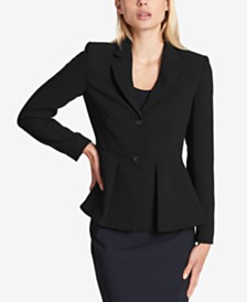DKNY Two-Button Peplum Blazer