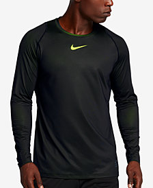 Nike Men's Pro Dry Fitted Long-Sleeve T-Shirt