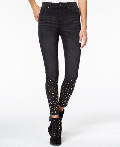 Tinseltown Juniors' Studded Skinny Jeans