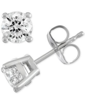 Macy S Star Signature Diamond Stud Earrings 1 1 2 Ct T W In 14k