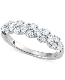 Macy's Star Signature Diamond™ Garland Cluster Ring (1 ct. t.w.) in 14k White Gold