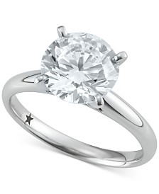 Macy's Star Signature Diamond™ Solitaire Engagement Ring (3 ct. t.w.) in 14k White Gold