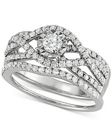 Diamond Weave Bridal Set (1-1/7 ct. t.w.) in 14k White Gold