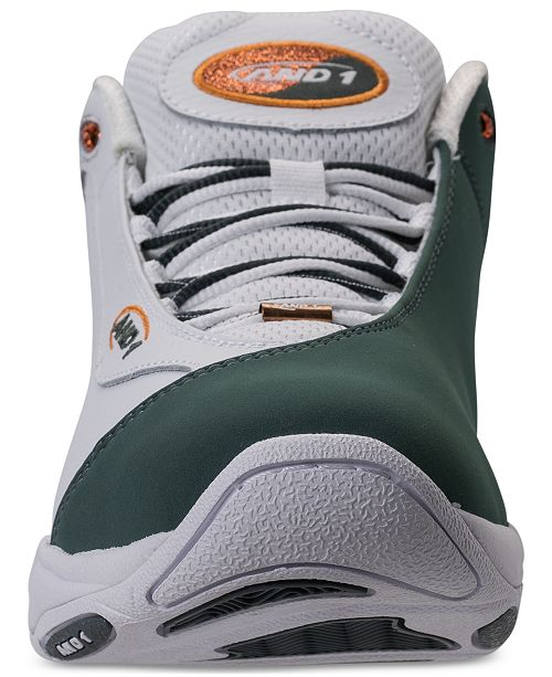 AND1 Men's Tai Chi Mid Leather Basketball Sneakers from