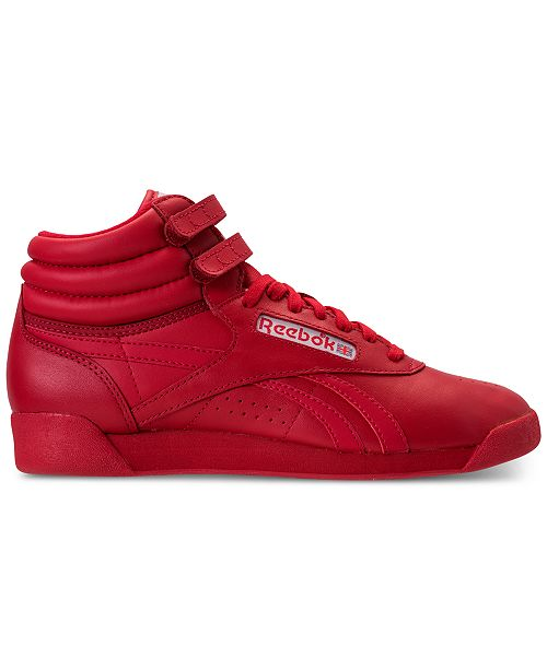 287620f0b3a346 ... Reebok Women s Freestyle High Top Spirit Casual Sneakers from Finish ...