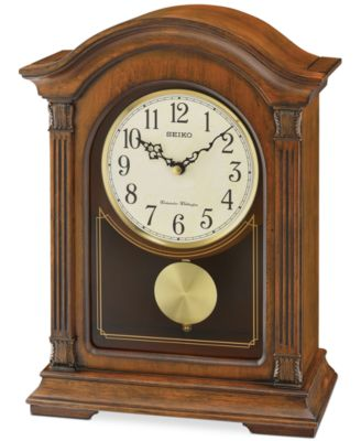 Traditional wooden mantel clocks