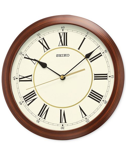 Seiko Wood-Look Wall Clock