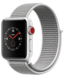 Apple Watch Series 3 (GPS + Cellular),  38mm Silver Aluminum Case with Seashell Sport Loop