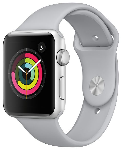 Apple Watch Series 3 (GPS), 42mm Silver Aluminum Case with Fog Sport Band