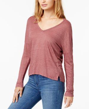 Raine Textured High-Low T-Shirt, Clay