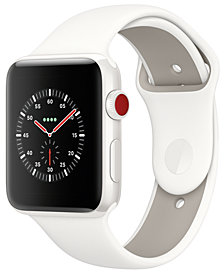 Apple Watch Edition (GPS + Cellular),  42mm White Ceramic Case with Soft White/Pebble Sport Band
